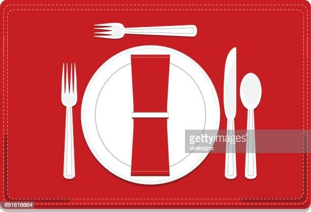 Classic, Basic 4-Piece Dinnerware Place Setting Set