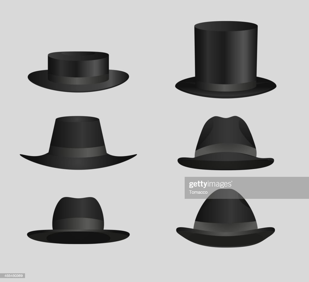 Classic Black top hat Derby Hats and caps