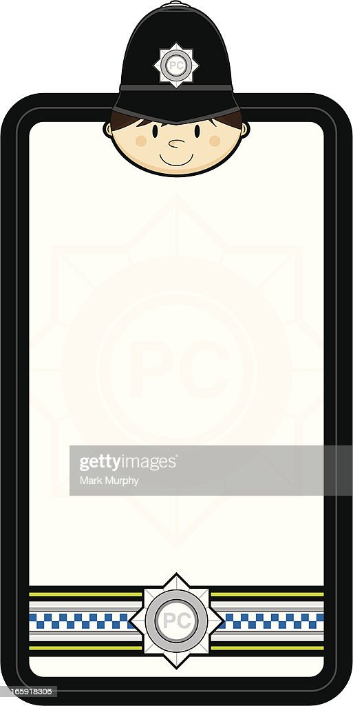Classic British Police Officer Frame Vector Art | Getty Images