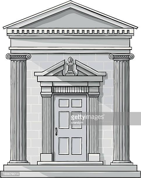 classic building facade - door frame stock illustrations, clip art, cartoons, & icons