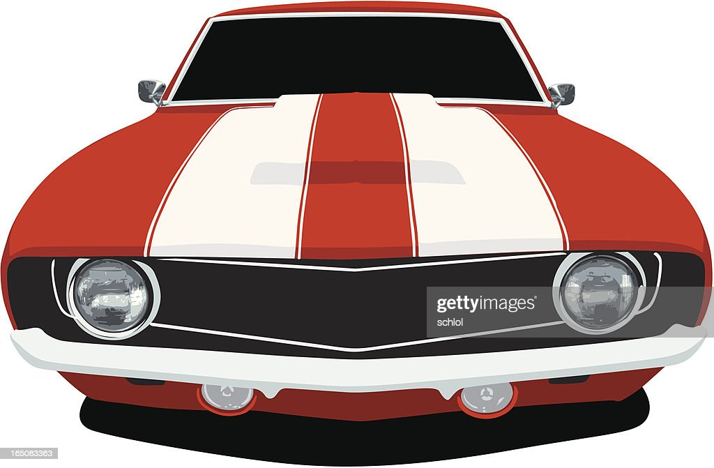 Classic Camaro - Front View : stock illustration