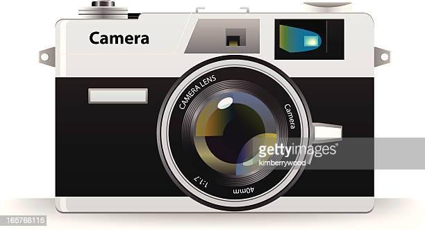 ilustrações de stock, clip art, desenhos animados e ícones de câmara clássica - maquina fotografica antiga