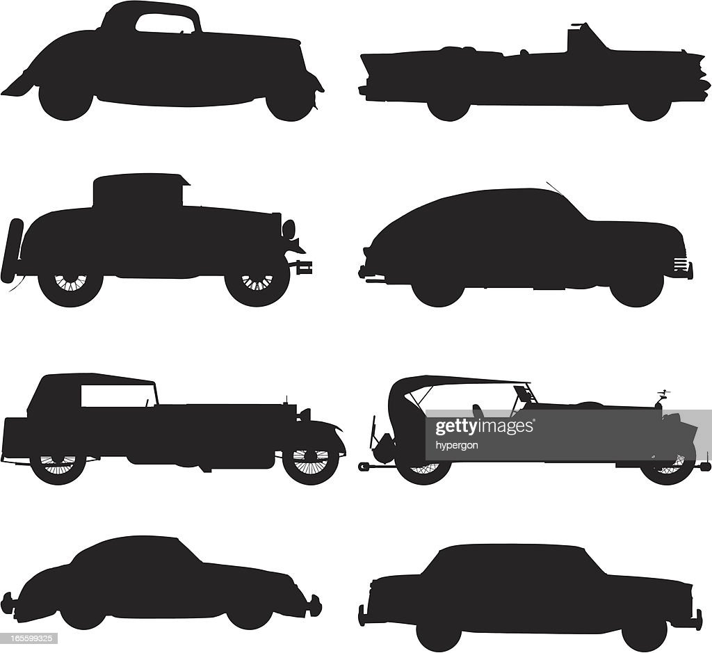 Classic car silhouettes