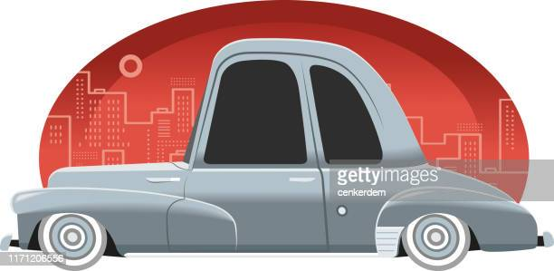 classic car - car ownership stock illustrations, clip art, cartoons, & icons