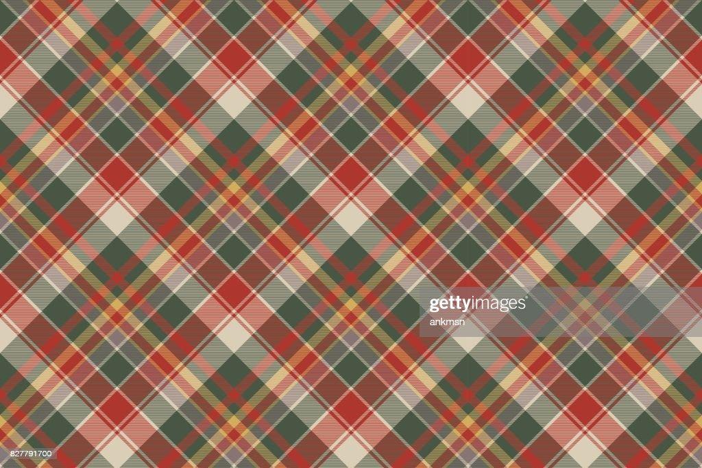 Classic check tartan diagonal seamless fabric texture