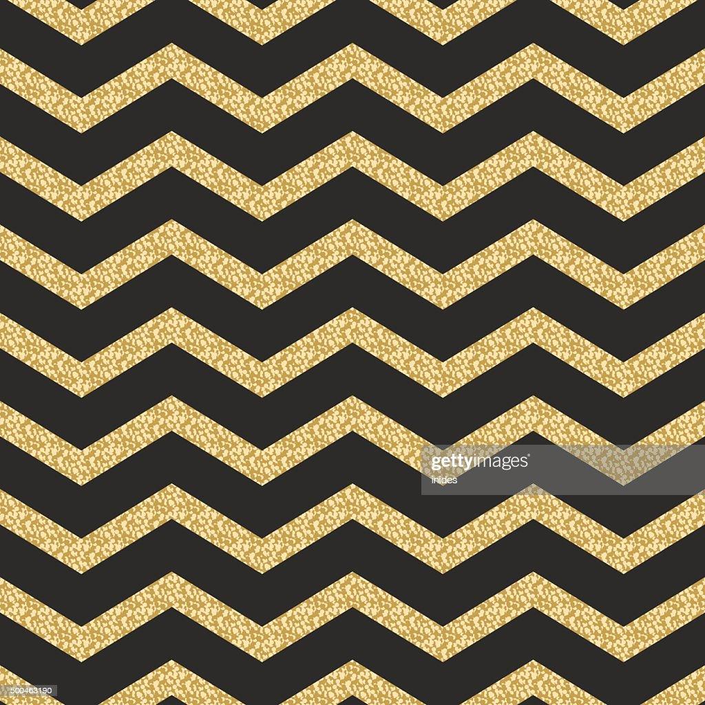 Classic chevron stripe glitter shimmer seamless vector pattern