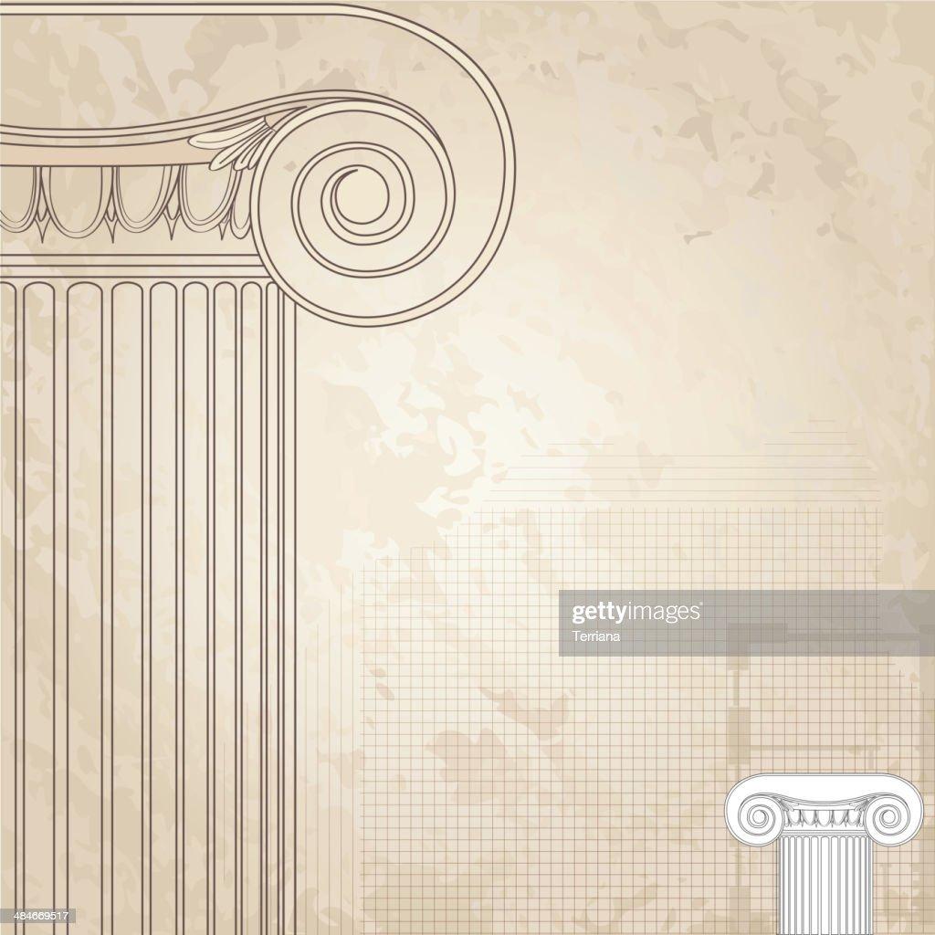 Classic columns architectural wallpaper