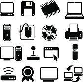 classic computer systems icons