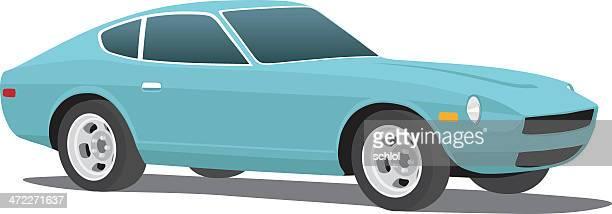 classic datsun - street racing stock illustrations, clip art, cartoons, & icons