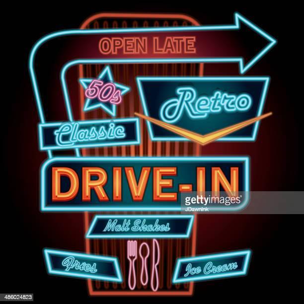 Classic Drive-In Theatre neon sign