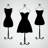 Classic female dress silhouette