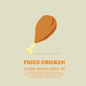 Classic food cartoon set,Fried chicken