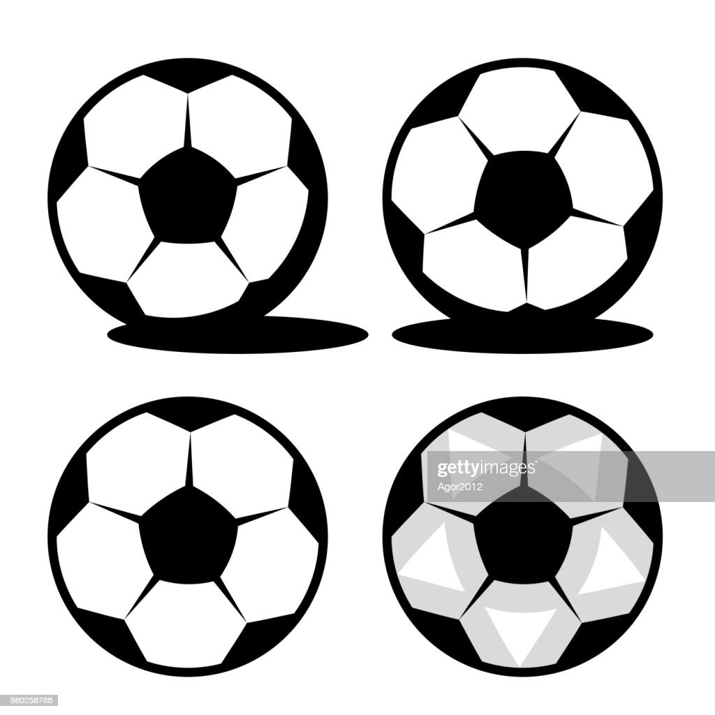 Classic footol ball with black pentagons