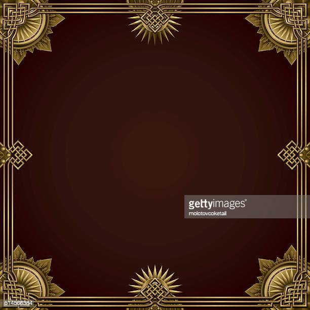 classic gold border background