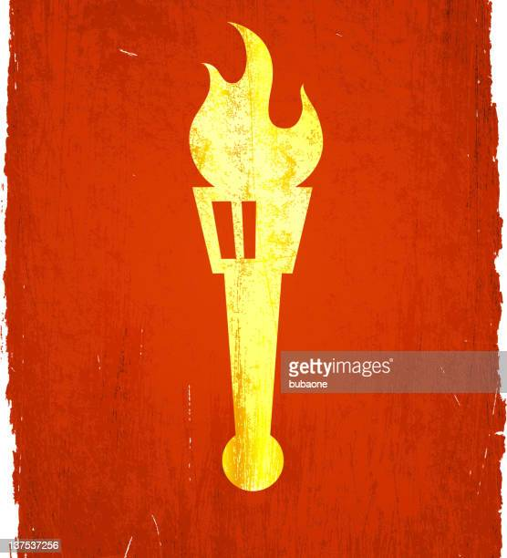 classic greek torch on royalty free vector background - sport torch stock illustrations, clip art, cartoons, & icons