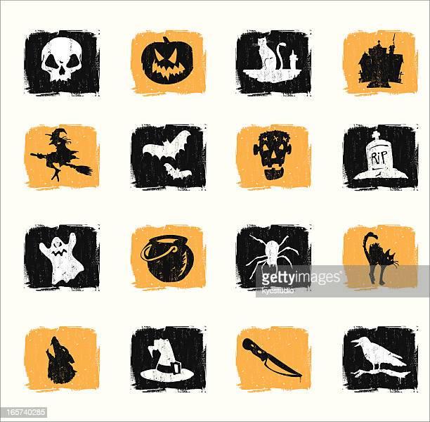 classic halloween symbols - cauldron stock illustrations, clip art, cartoons, & icons