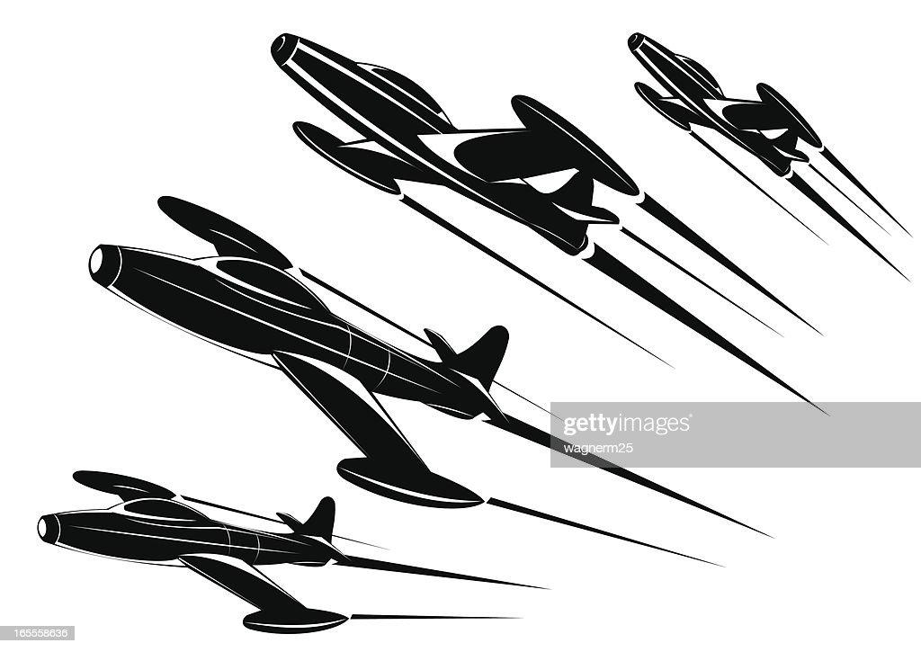 Classic Jet Plane - Two views