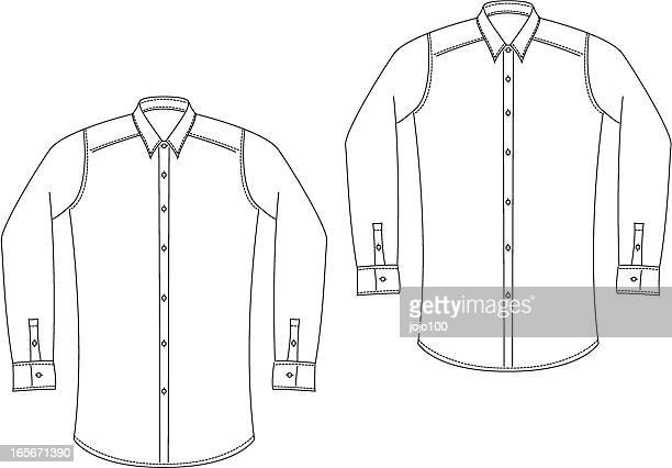 Classic Mens Shirts in a Hand Draw Style.