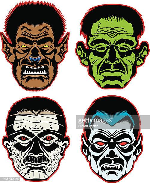 classic monsters - zombie stock illustrations, clip art, cartoons, & icons