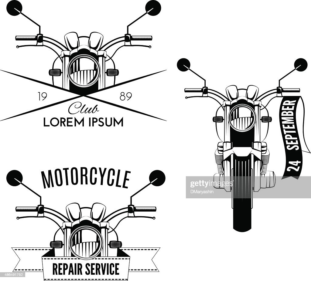 Classic motorcycle emblems