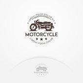 Classic motorcycle logo design
