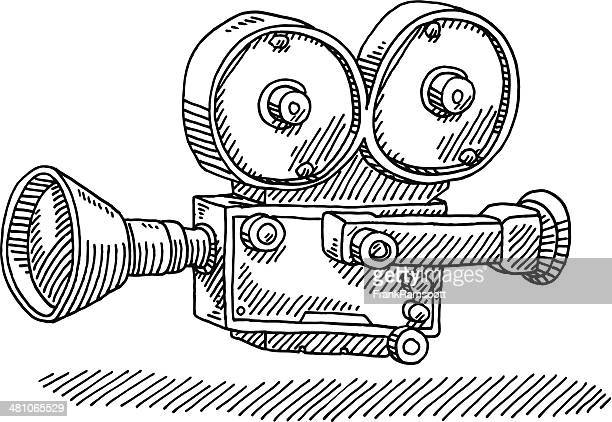 Classic Movie Camera Drawing