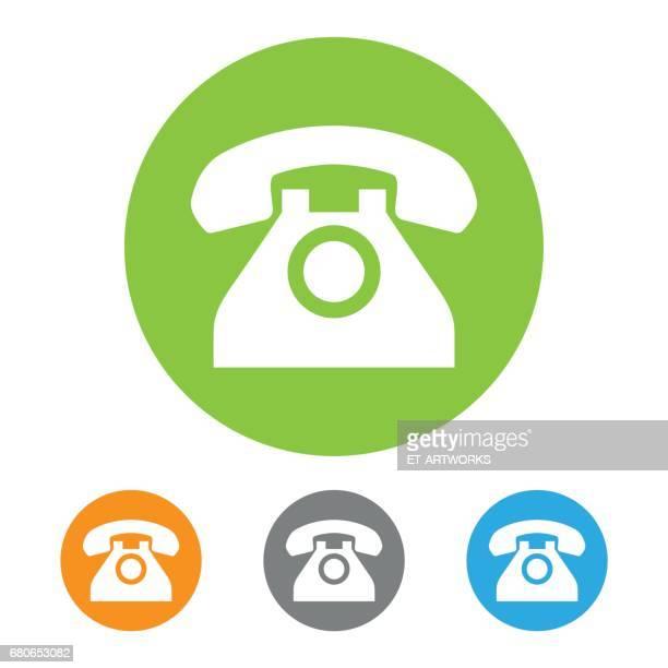 classic phone icon - telephone receiver stock illustrations