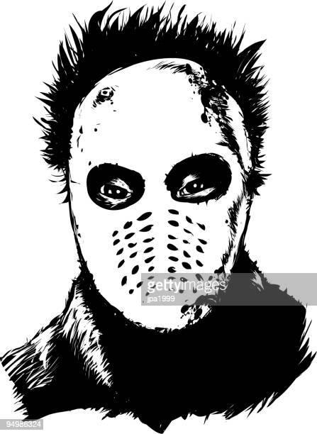 クラシックな psychopath - 血しぶき点のイラスト素材/クリップアート素材/マンガ素材/アイコン素材