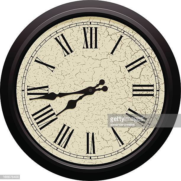 Classic round wall clock with Roman numerals
