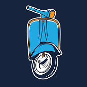 Classic scooter design template