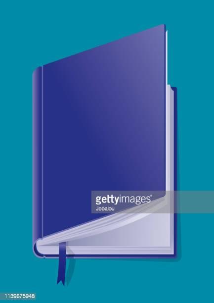 classic semi-open hardcover book - encyclopaedia stock illustrations, clip art, cartoons, & icons