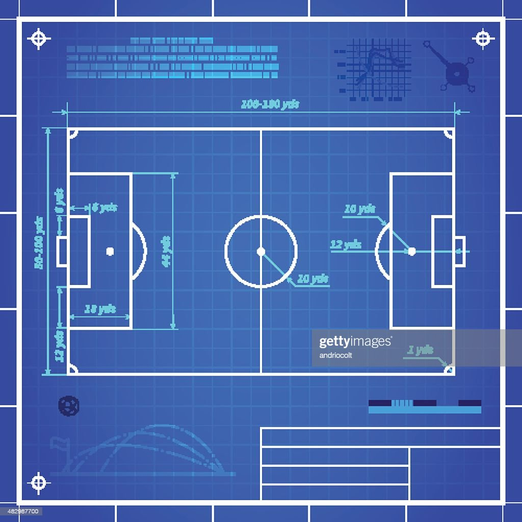 Classic soccer of football pitch measurements