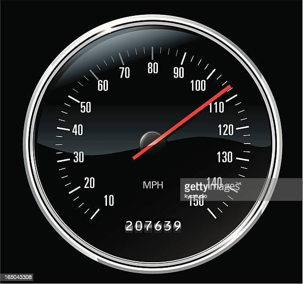 classic sport speedometer - odometer stock illustrations, clip art, cartoons, & icons