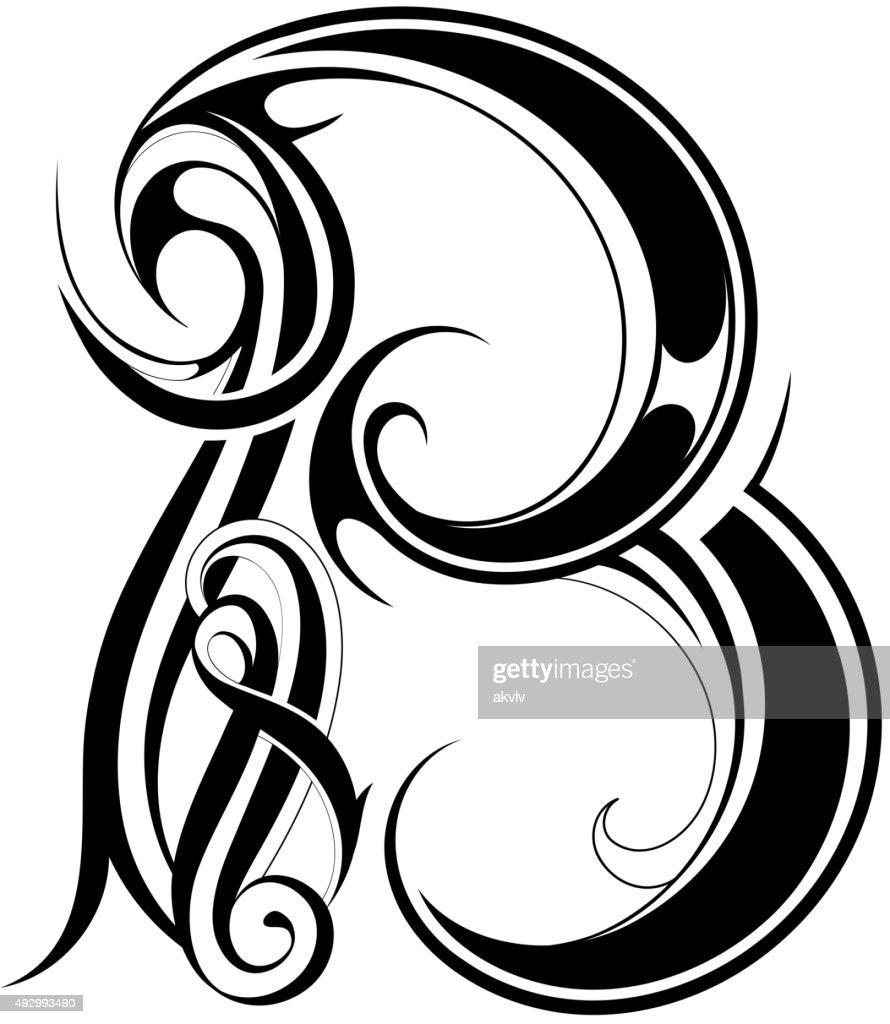 Classic style letter shape