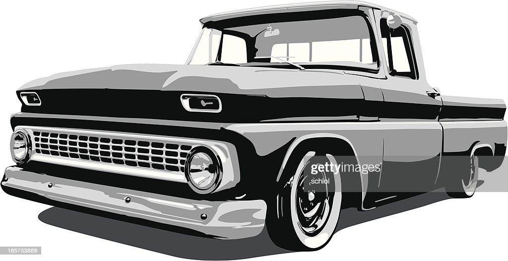 Classic Vector Pickup Truck Vector Art | Getty Images