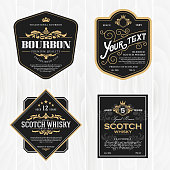 Classic vintage frame for whisky labels