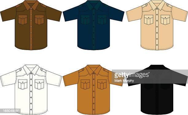 Classic Western Shirt Short Sleeved