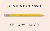Classic Yellow Pencil with Eraser Tip