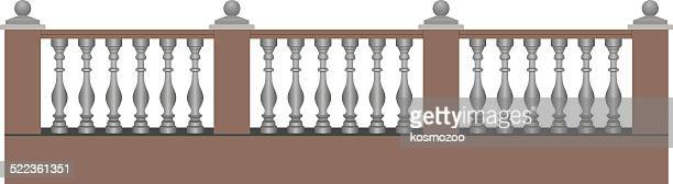 classical baluster fence