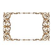 Classical baroque ornament vector