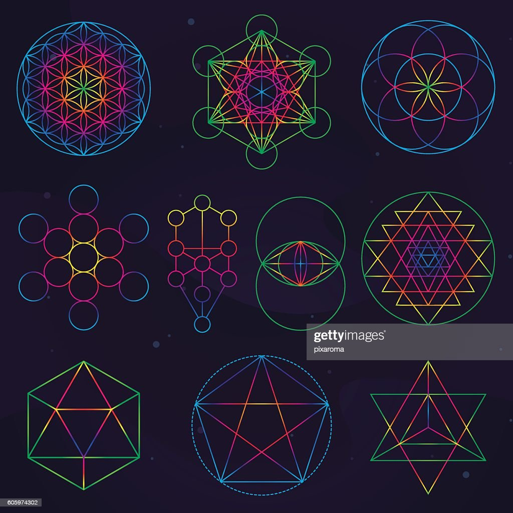 Classical Sacred Geometry Symbols Stock Illustration - Getty