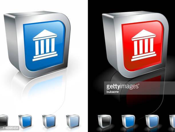 classical style building square royalty free vector art - pediment stock illustrations, clip art, cartoons, & icons