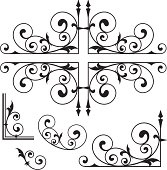 Classical Wrought Iron Ornaments