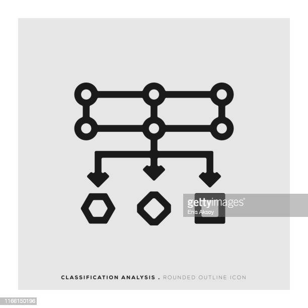 classification analysis icon - deep learning stock illustrations