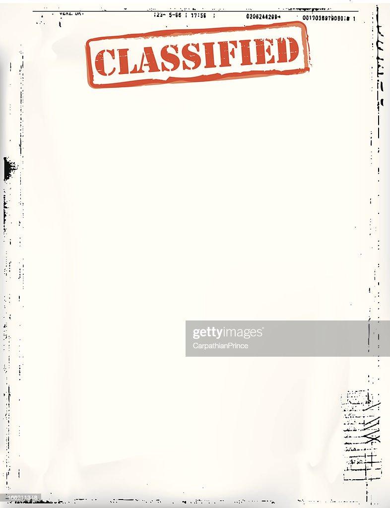 Kleinanzeigen Document Template Vektorgrafik | Getty Images