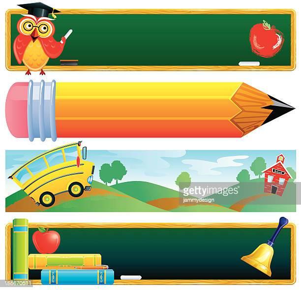 classroom internet banners - bookmark stock illustrations, clip art, cartoons, & icons