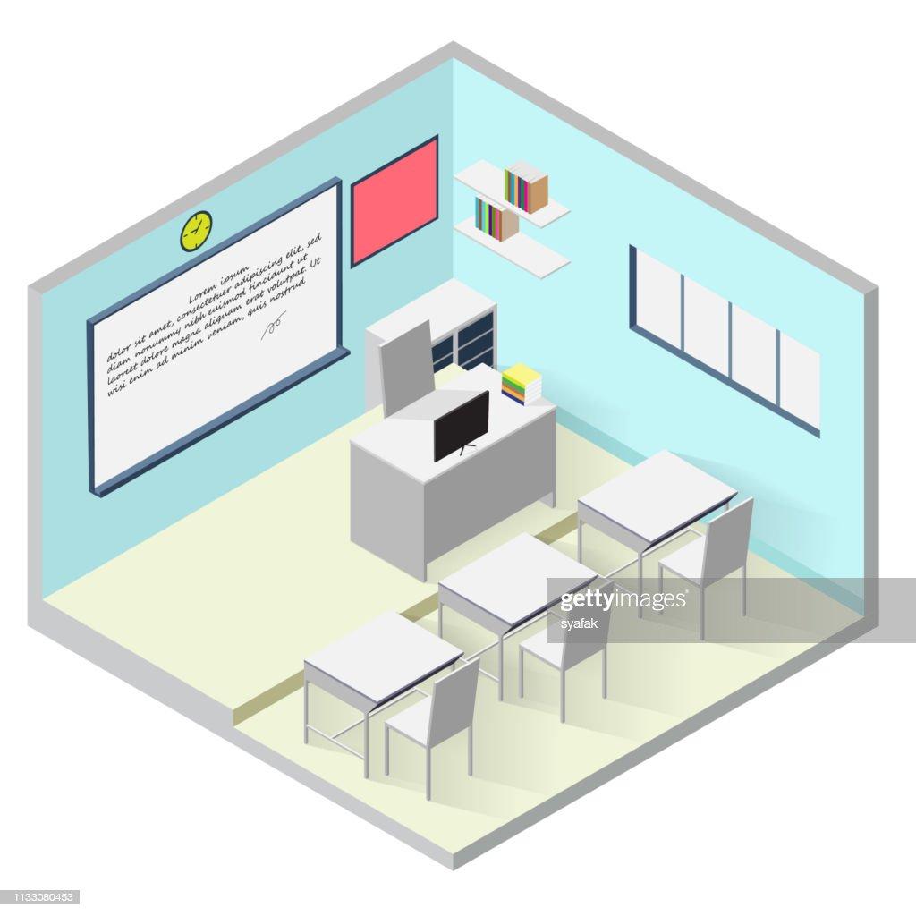 Classroom isometric icon