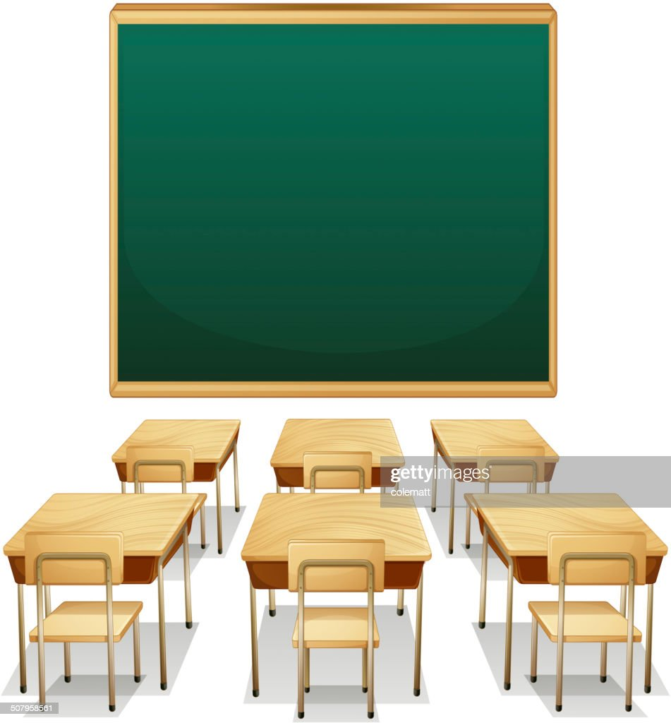 Classroom Design Clipart : Classroom vector art getty images