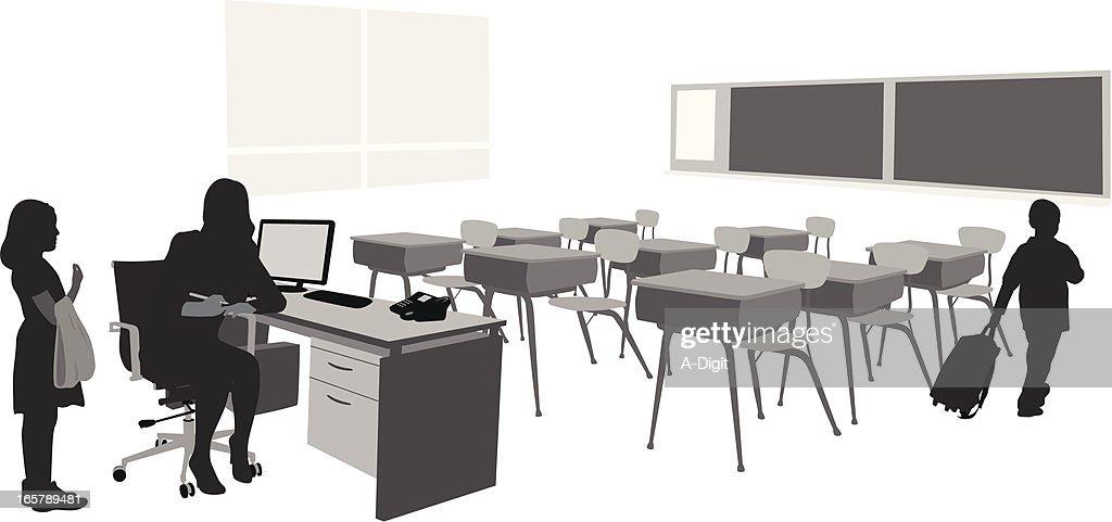Classroom Vector Silhouette