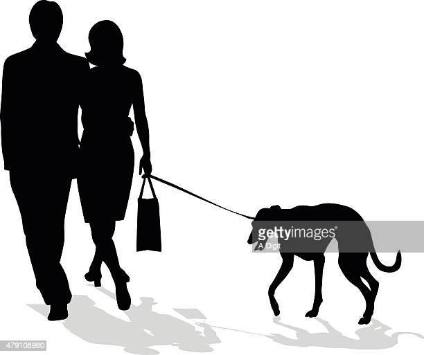 Klassische Paar mit Greyhound